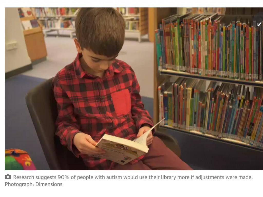 自閉症の方が図書館に行けるように英図の取り組み