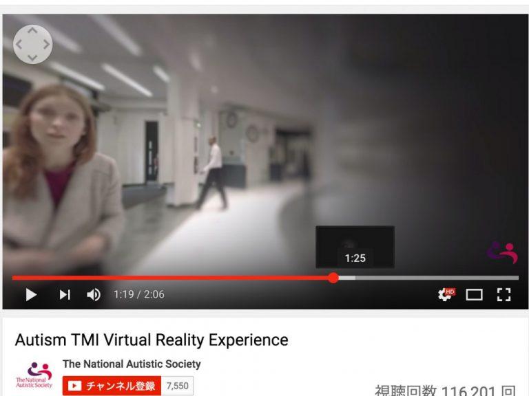 360度見わたせるバーチャルリアリティでの自閉症の体験動画