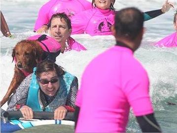 犬と一緒のサーフィンで発達障害の子が成長 s22
