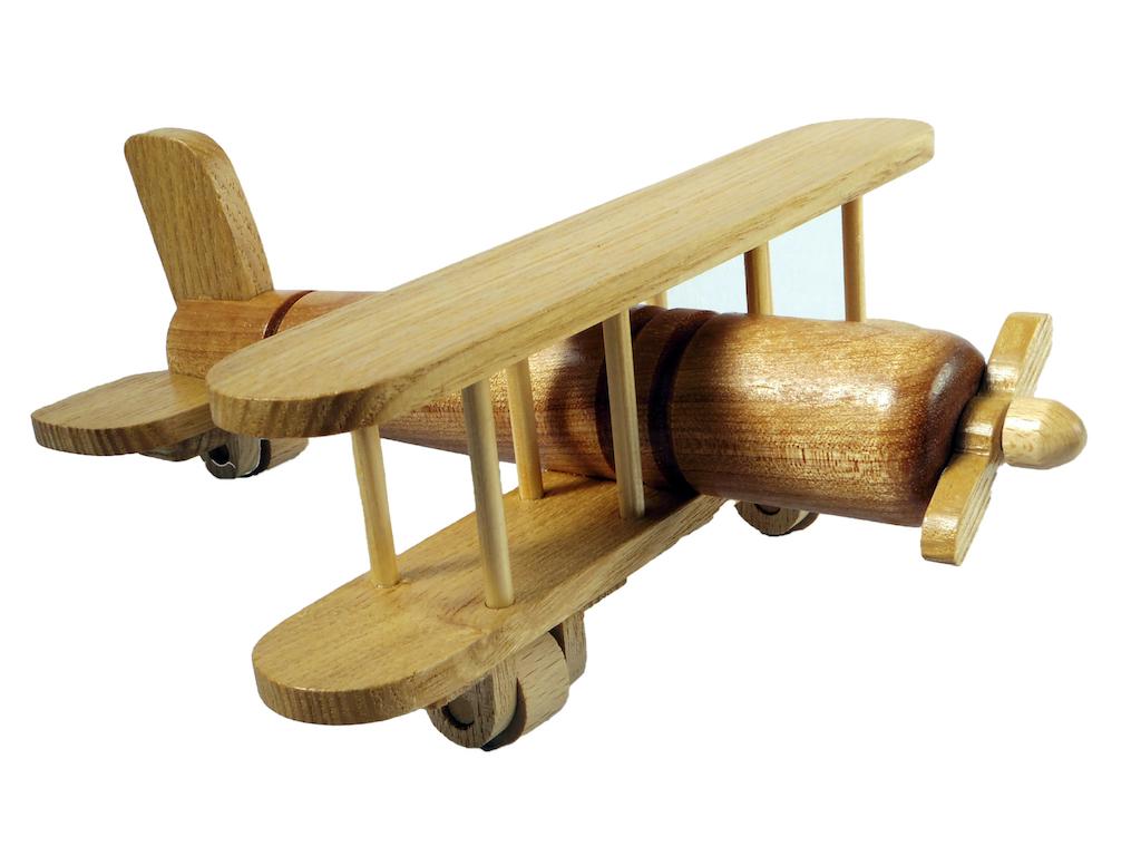 木の飛行機とレーシングカー ピアワーク・オアシス 4573460943270-1