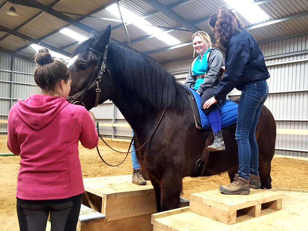 1分間に百歩。発達障害の子に効く乗馬療法 h3-1