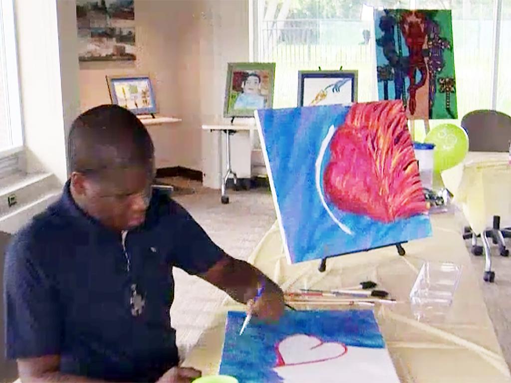 発達障害少年が先生になって絵を教える教室