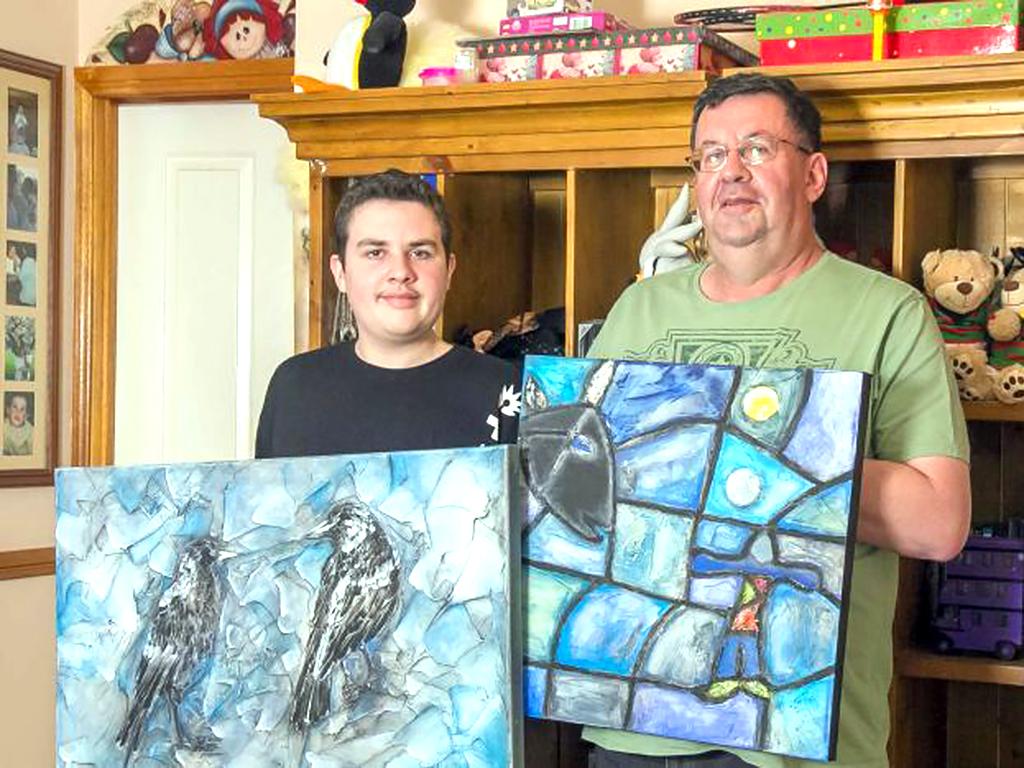 発達障害の子と父が自宅学習と芸術で変わる