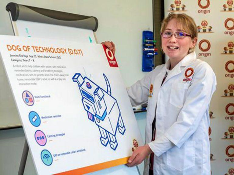 発達障害の少女がロボット犬を作りNASAへ