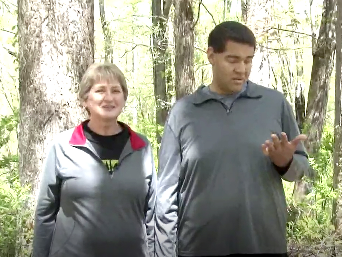 発達障害の青年は母と自然公園の約1500kmの全コースを制覇 t5-1