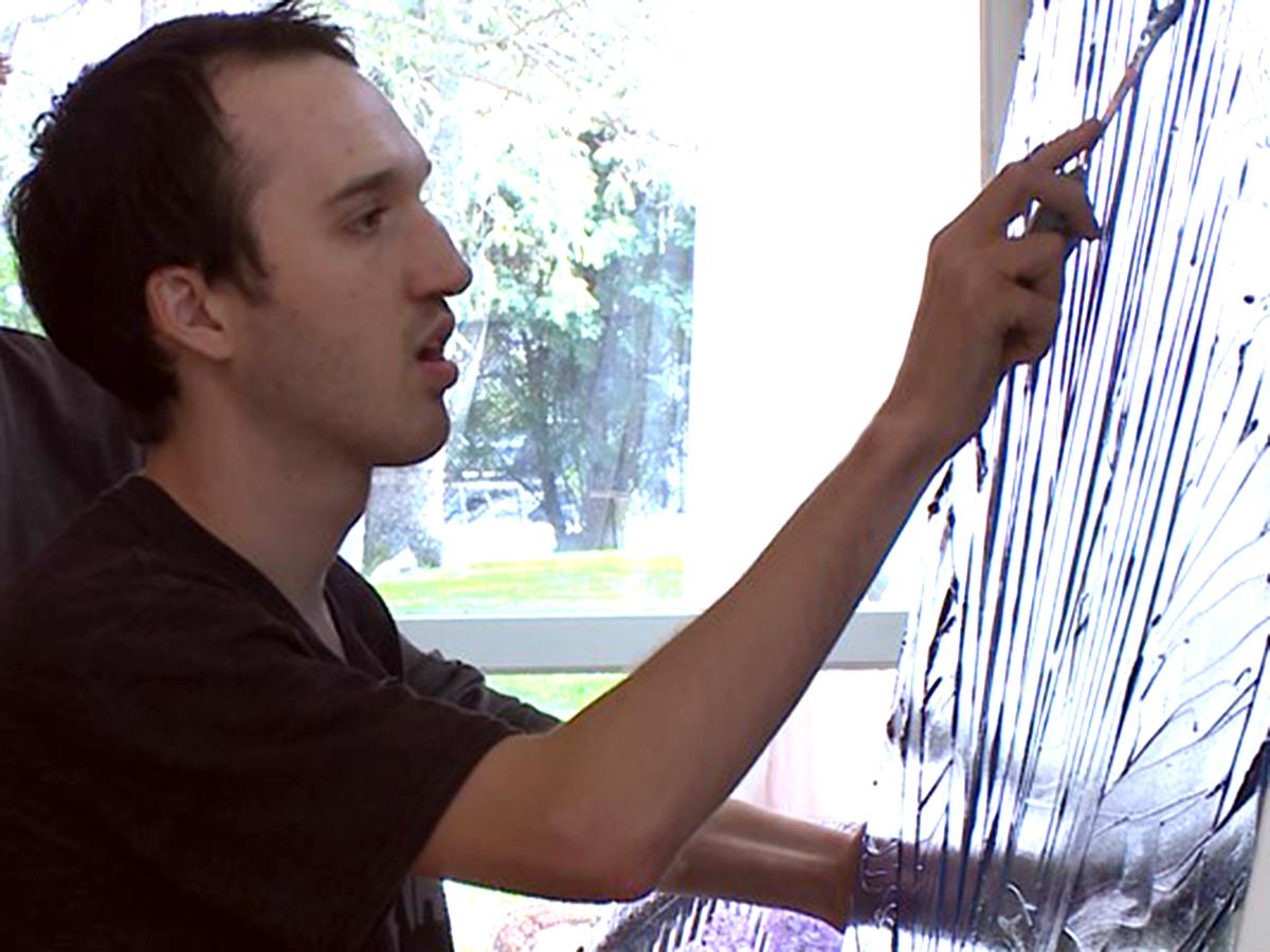 発達障害の息子が描く絵がすべて売れてしまって、母親は驚いた