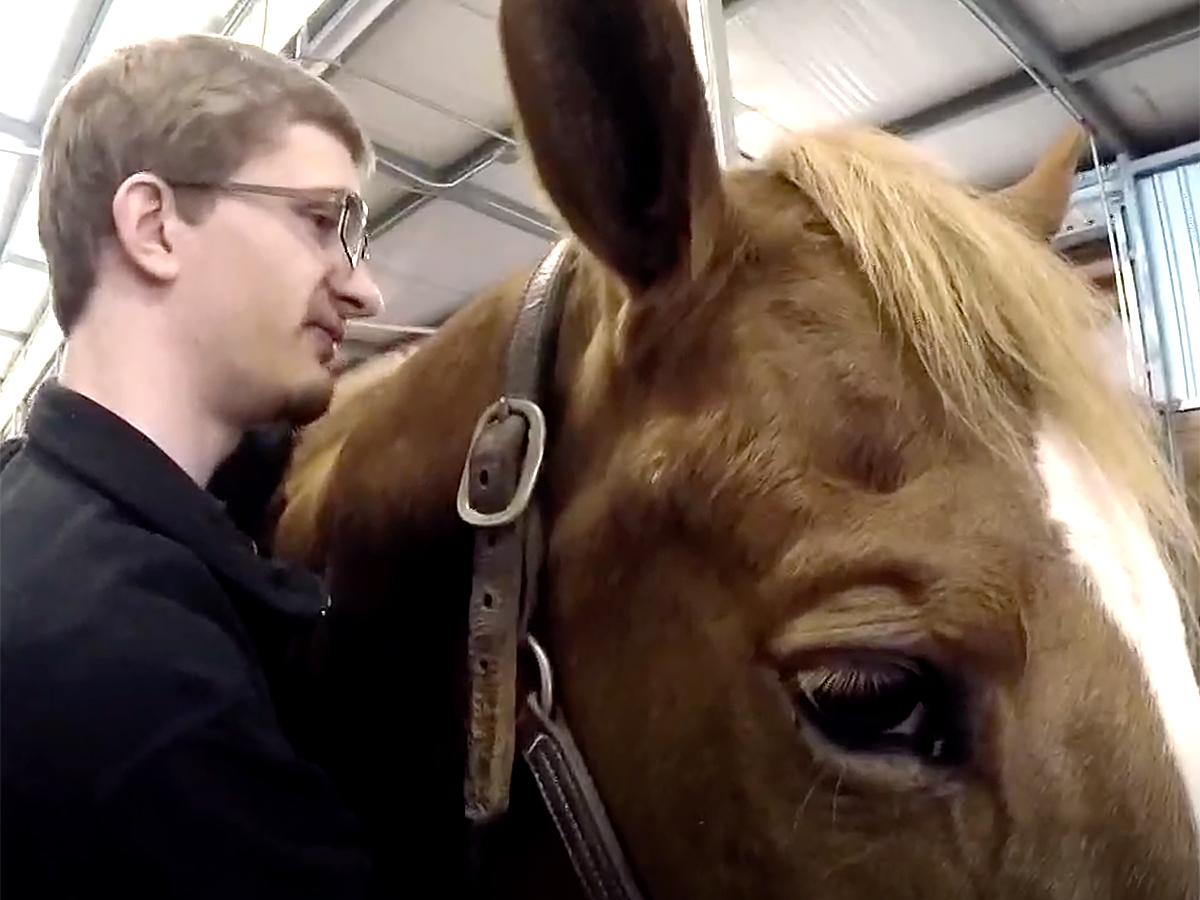 発達障害の青年は馬の療育でコミュニケーションを学び自信もつく