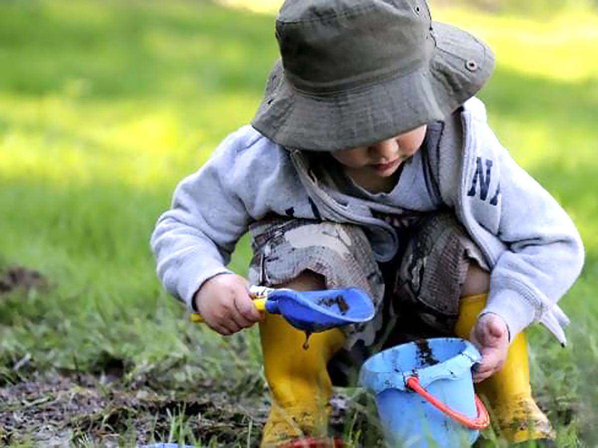 発達障害の子たちにやさしく発達を促してくれる緑があふれる庭 g1