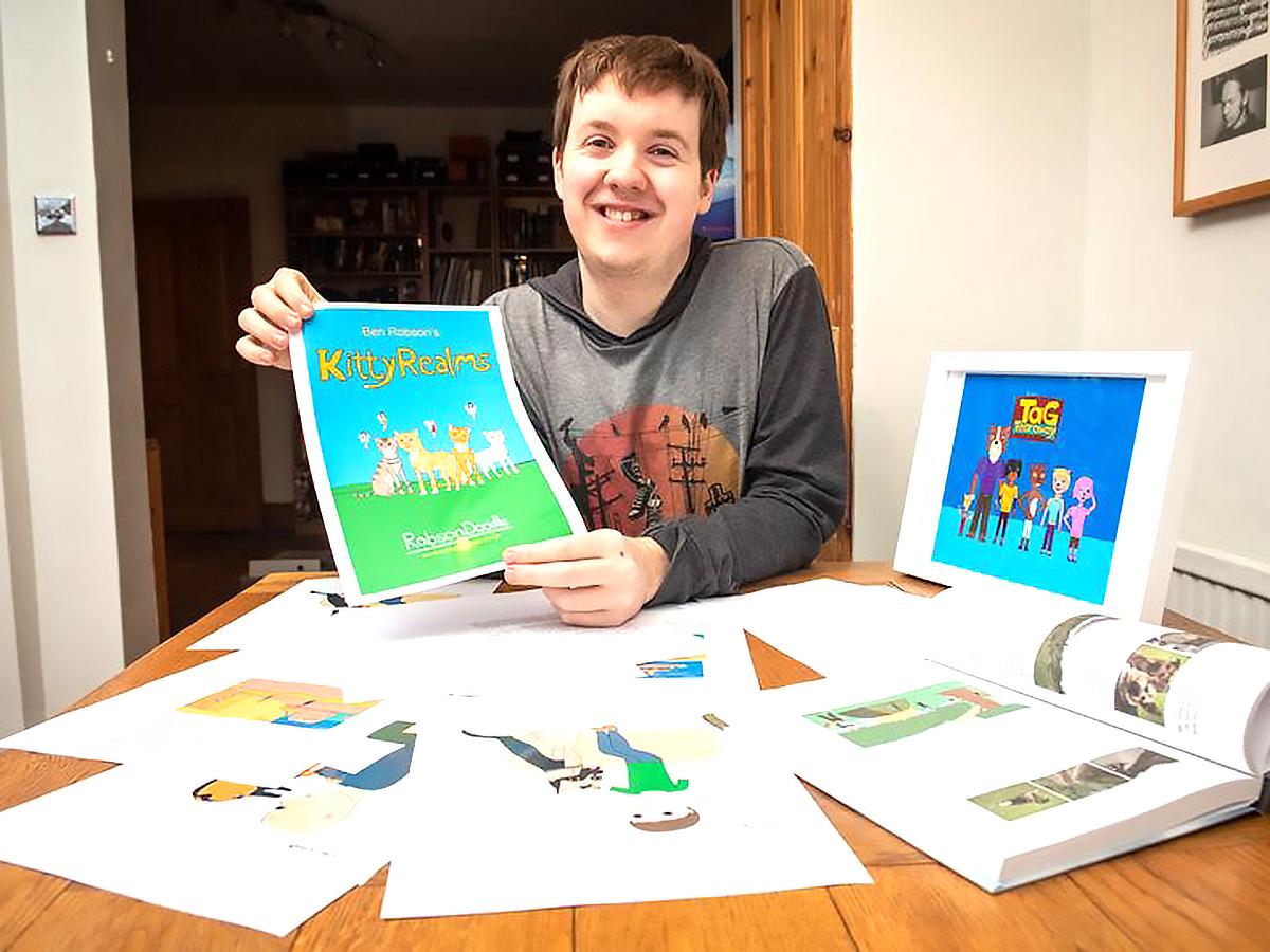 発達障害の青年は絵を描き文章を書いて本にし母の死を乗り越えた
