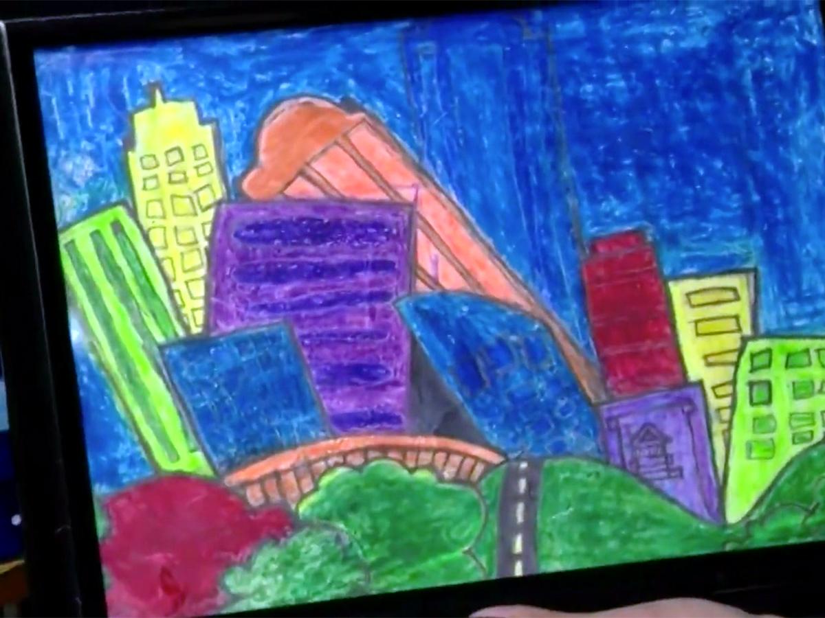 発達障害の少年は絵を描いて母親にそしてみんなに自分を伝える a4-1