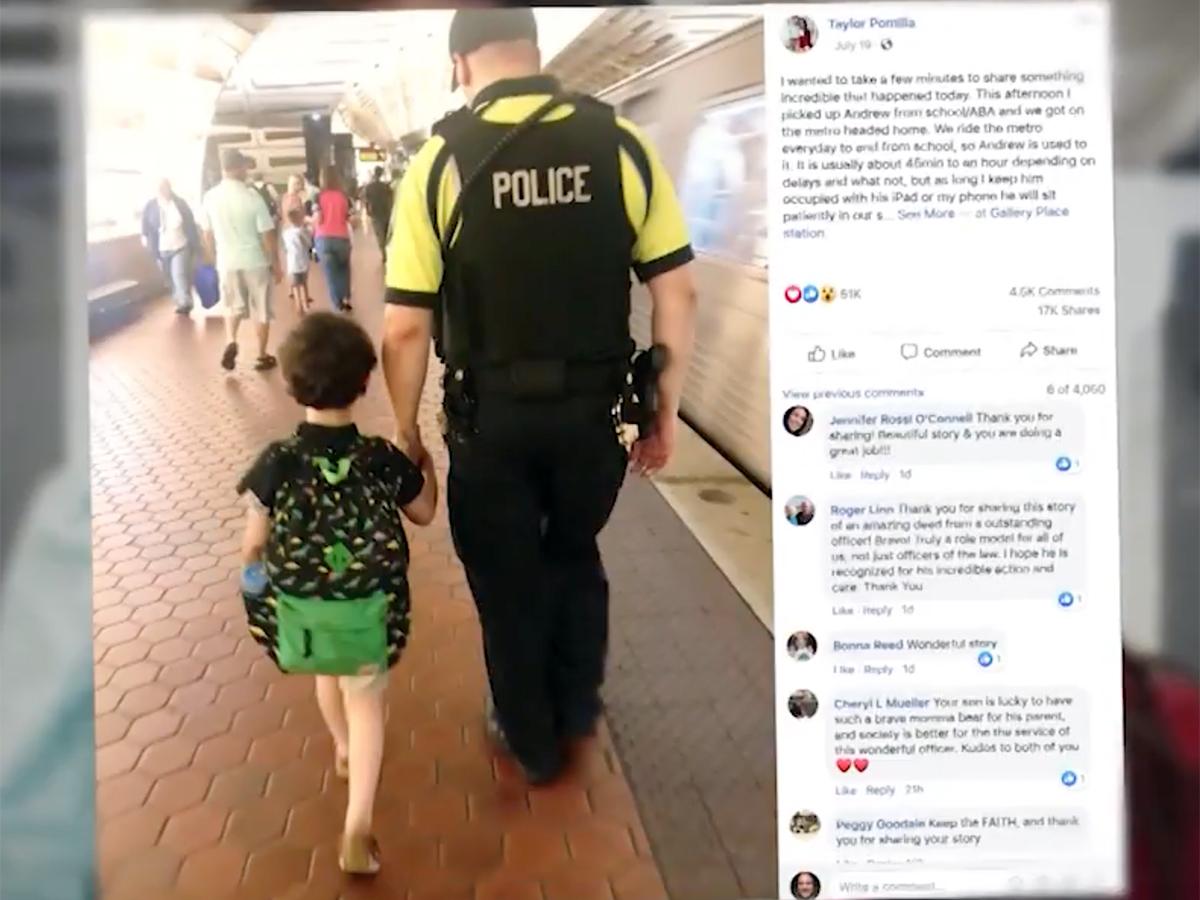 発達障害の少年と母親は助けてくれたあの鉄道警察官に再び会えた t8-1