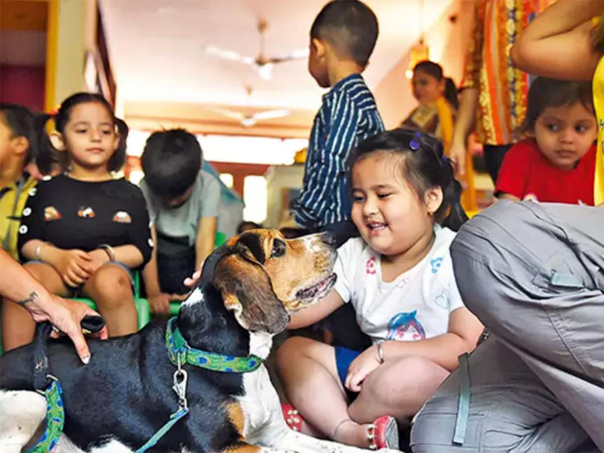知的障害の人にも役立っているインドで行われている動物支援療法 d3
