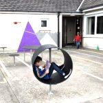 特別支援学校に設置された発達障害の子が助かる安心空間遊具
